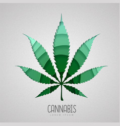 Cut out cannabis leaf silhouette cut out paper vector