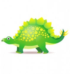 cute dino cartoon vector image