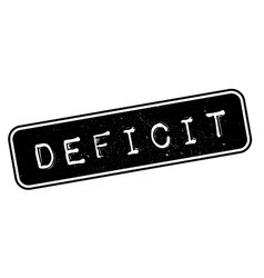 Deficit rubber stamp vector