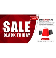 Design of web banner for sales on Black Friday vector image