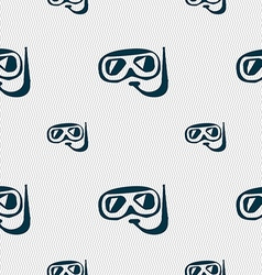 Diving icon sign Seamless pattern with geometric vector