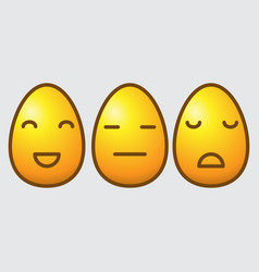 Easter egg emoticons vector