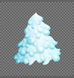 fairy christmas tree fir-tree is covered vector image