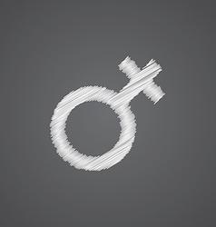 female sketch logo doodle icon vector image