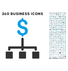 financial hierarchy icon with flat set vector image