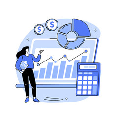 financial management system abstract concept vector image