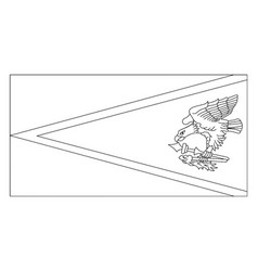 Flag of american samoa 2009 vintage vector
