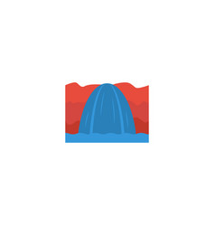 flat icon niagara falls element vector image