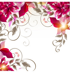 floral colorful background vector image
