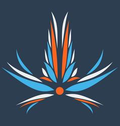 Flower logo template vector