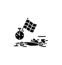 formula racing black glyph icon vector image