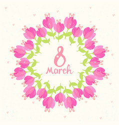 frame bouquets flowers vector image