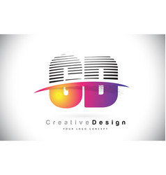 gd g d letter logo design with creative lines and vector image