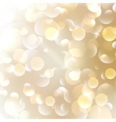 Golden Abstract Bokeh Background vector image
