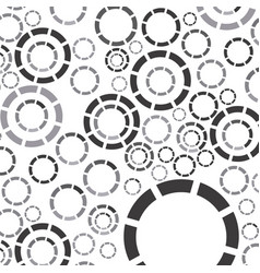 Gray bubbles background icon vector