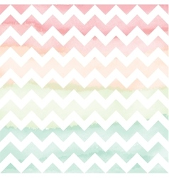 Hand Painted Watercolor Chevron Background vector