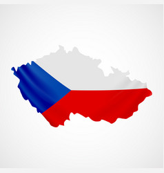 Hanging czech flag in form of map czech republic vector