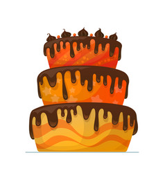 happy birthday cake with chocolate vector image