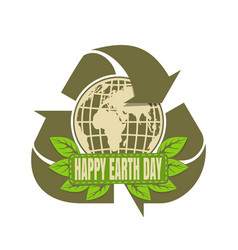 happy earth day design vector image
