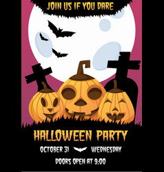 happy halloween invitation poster vector image