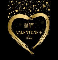 Happy valentines day poster decorative glitter vector