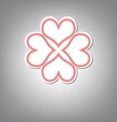 heart flower symbol design vector image