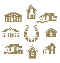 house luky set white vector image