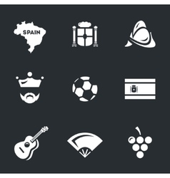 Icons Set of Spain vector image