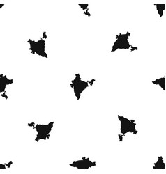 indian map pattern seamless black vector image