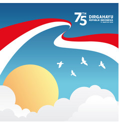 Indonesia happy independence day 75th indonesian vector