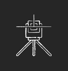 Laser line level chalk white icon on black vector