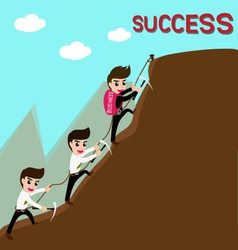 Leadership and team are success in business vector image