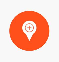 Location map navigation pin plus vector