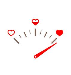Love gauge valentines day card design element vector