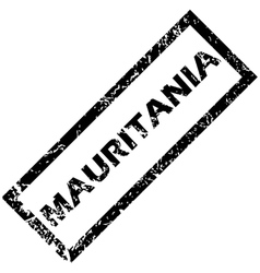 MAURITANIA rubber stamp vector