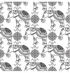 mehndi indian henna tattoo seamless pattern with vector image