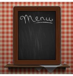 Menu blackboard background vector