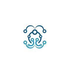 molecular symbol logo vector image