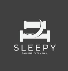 Moon hotel logo design template vector