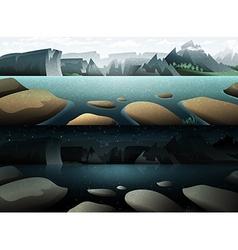 Nature and landscape Summer landscape of nature vector image