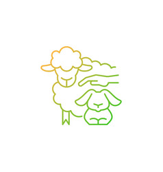 Petting zoo gradient linear icon vector