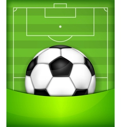 Playing field ball green background soccer 10 v vector
