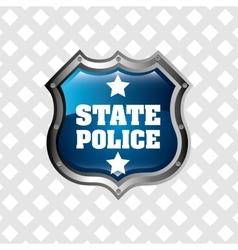 Police service design vector