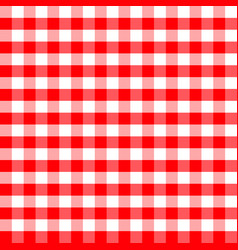 red and white plaids seamless pattern checkered vector image