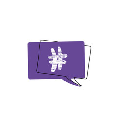 set of hashtag signs vector image