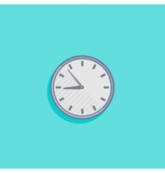 simple with a clock icon flat design vector image