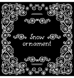 snow frame vector image