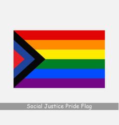 Social justice gay pride flag rainbow flag lgbtq vector