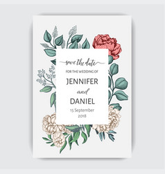 template card for wedding invitation vector image
