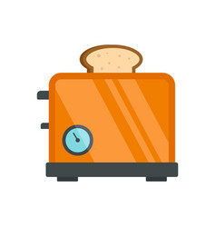 Timer toaster icon flat style vector